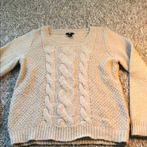 H&M multi knit sweater large looks great as OS